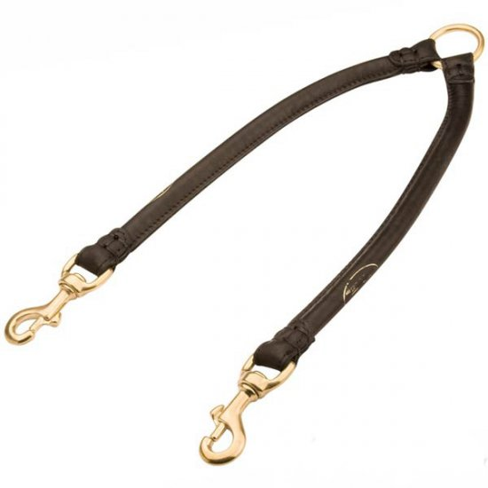 Extra Durable Round Leather Cane Corso Coupler