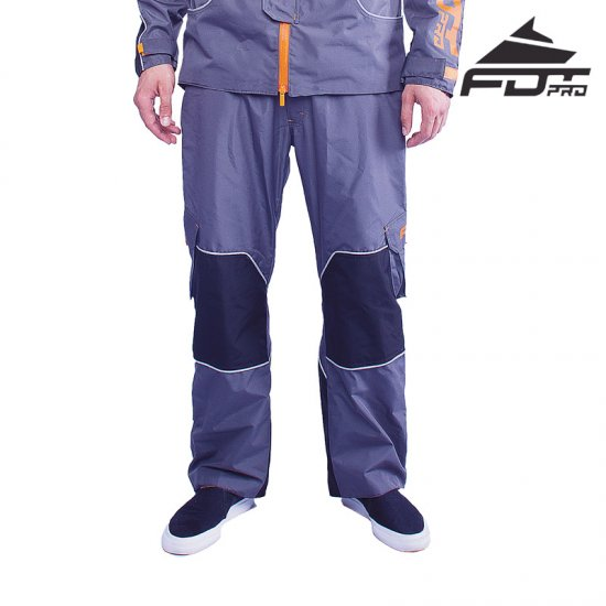 """Pro Pants"" Dark Grey Color with Orange Trim - Click Image to Close"
