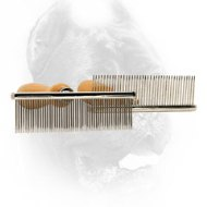 Metal Dog Brush with Wooden Handle