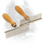 Chrome Plated Dog Brush for Daily Grooming