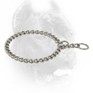 Chrome Plated Dog Choke Collar with 20 mm Links