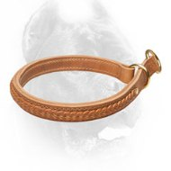 Gorgeous 2 Ply Leather Choke Cane Corso Collar