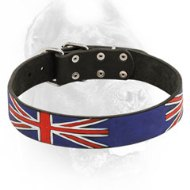 British Pride Leather Dog Collar