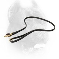 Classic Stitched Leather Cane Corso Leash