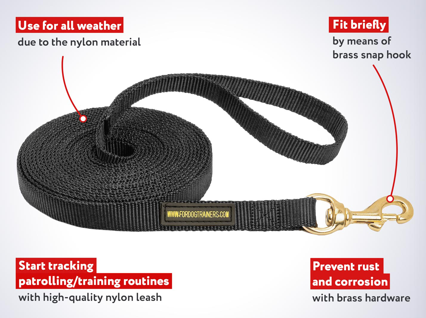 Practical Nylon Cane Corso Leash for Tracking and Walking