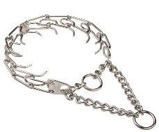 Herm Sprenger Chrome Plated Pinch Collar with 4.5 mm Prongs