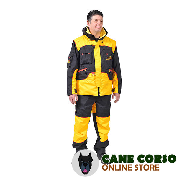 Dog Bite Suit of Wind Resistant Membrane Material for Training