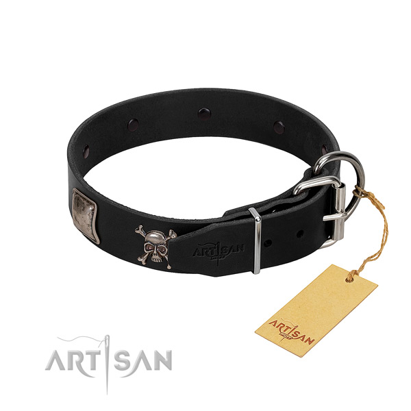 Convenient leather collar for your beautiful dog