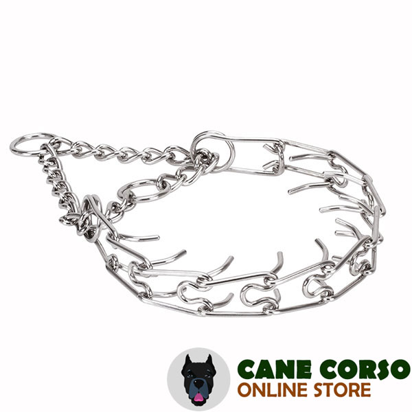 Stainless steel prong collar for poorly behaved pets