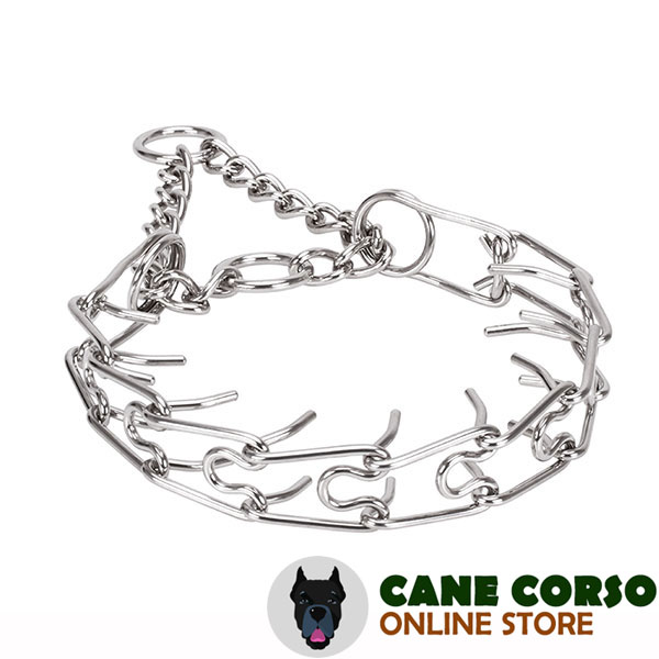 Rust proof stainless steel dog pinch collar with removable prongs