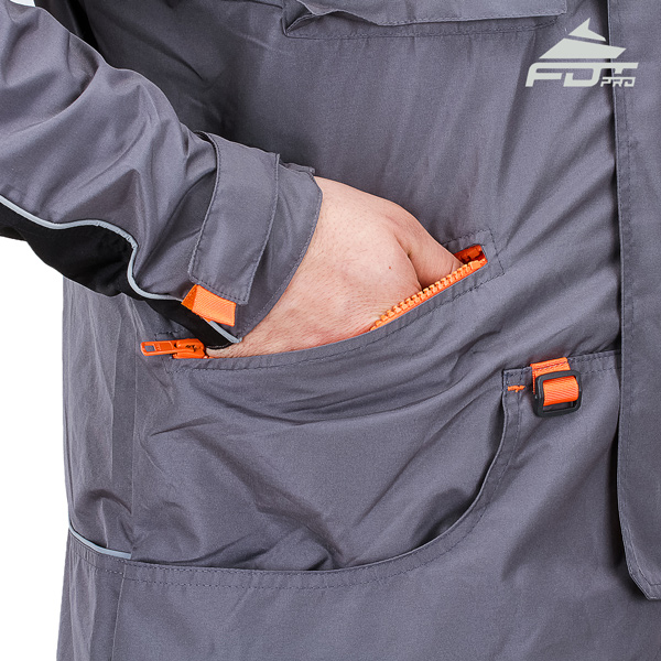 FDT Pro Dog Training Jacket with Side Pockets for All Weather