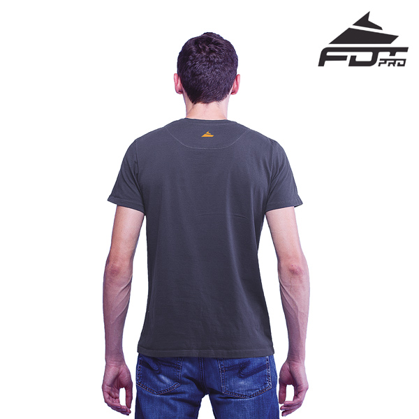 Men T-shirt Dark Grey Color FDT Pro for Dog Trainers
