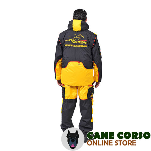 Membrane Material Dog Training Suit with Side Pockets