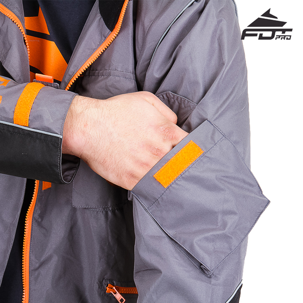Pro Design Dog Tracking Jacket with Strong Sleeve Pocket