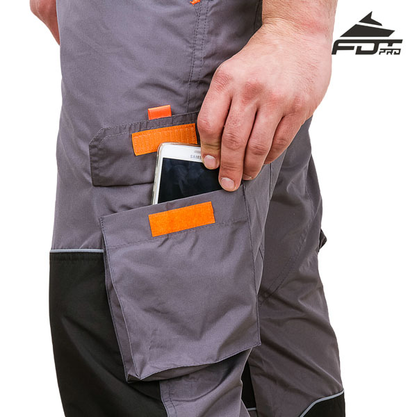 FDT Professional Design Dog Tracking Pants with Strong Velcro Side Pocket