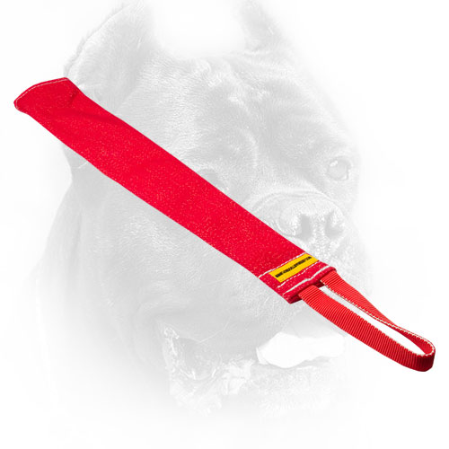 French Linen Cane Corso Bite Rag with Durable Handle