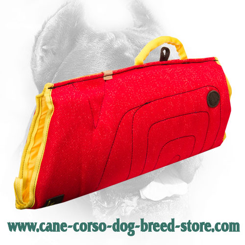 French Linen Cane Corso Bite Sleeve with Durable Round Handle