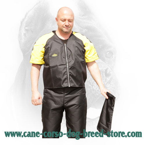 Protection Scratch Jacket with Removable Sleeves for Cane Corso Training