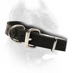 Demandable leather dog collar