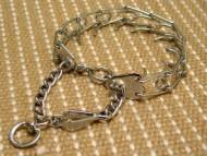 Chrome Plated Cane Corso Prong Collar with 3.99 mm Prongs and Swivel