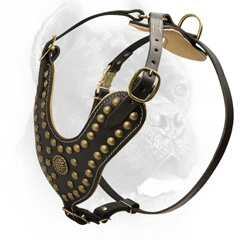 Dog safety luxury leather harness
