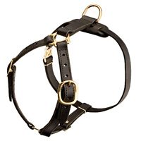 Luxury handcrafted leather dog harness made To Fit Cane Corso