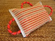 Dog bite pad made of jute with 3 handles for dog training