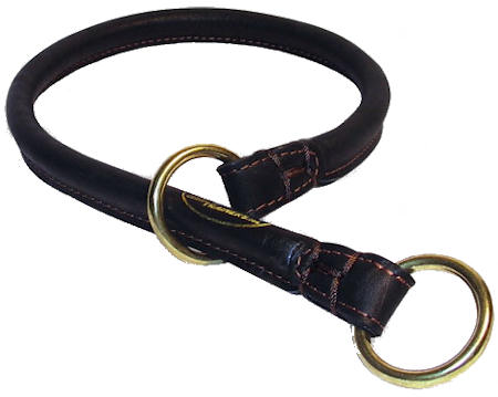 Found Rolled Leather Canine Collar/Choke Collar for Cane Corso