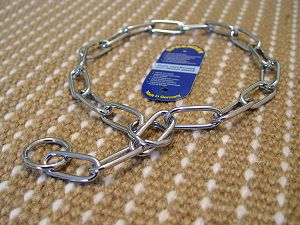 Smooth Chrome Plated Cane Corso Fur Saver with Large Links