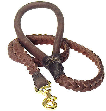 4 FT High quality Leather Braided Dog Leash