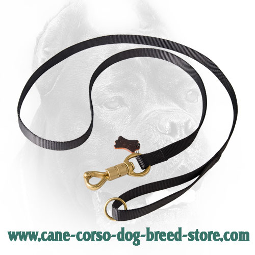 Nylon Cane Corso Leash with Strong Smart Lock