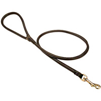 Hand crafted preimum quality latigo leather Round dog Lead for Cane Corso