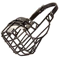 Rubber covered wire basket muzzle