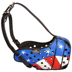 Sophisticated top quality leather dog muzzle