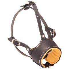 Reliable everyday leather dog muzzle