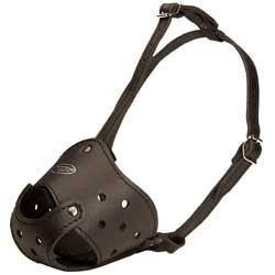 Handmade safety fine leather muzzle
